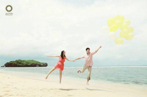 pantai sadranan di jogja untuk prewedding romantis