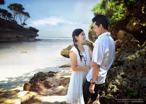 pantai siung di jogja untuk prewedding romantis