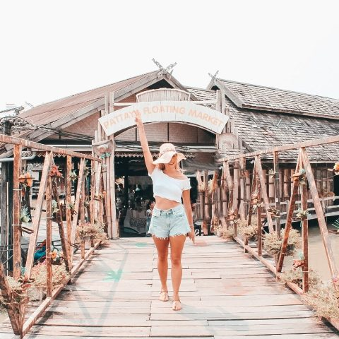 The floating market Thailand