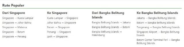 Belitung Island from Singapore